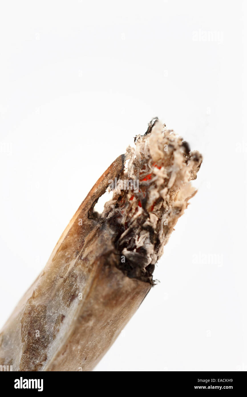 cigarette - hand made - close-up - Stock Image
