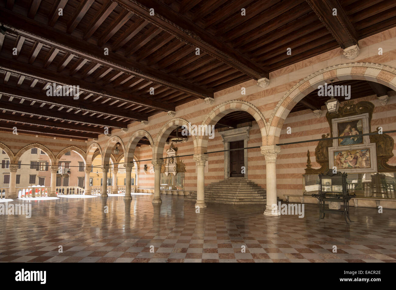 The 15th century Loggia del Lionello in in Liberty Square  in Udine Italy. This was built between 1448 and 1457 - Stock Image