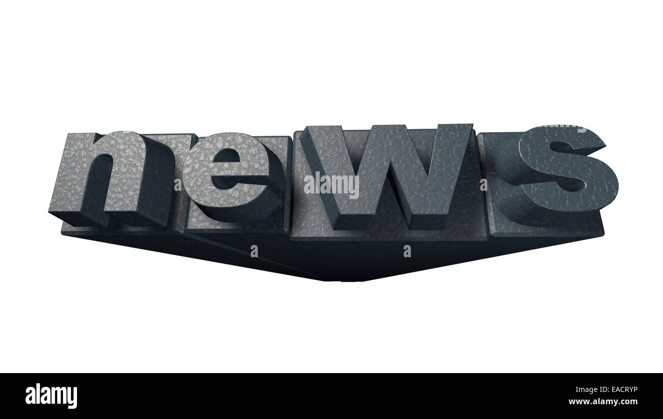 News - lithography cliché - Stock Image