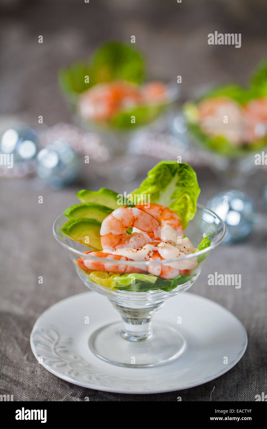 Prawn cocktails - Stock Image