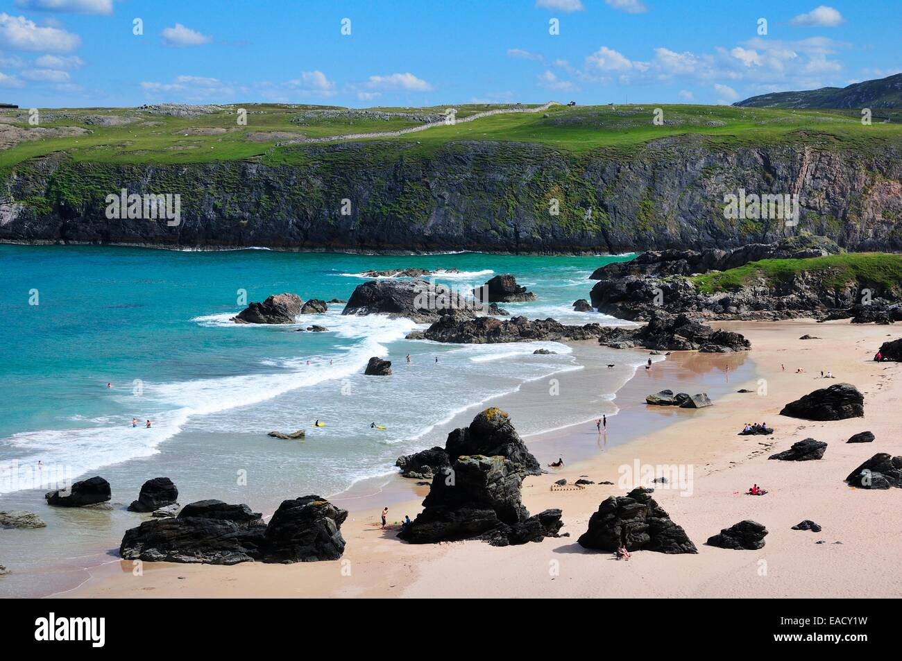 Beach of Sango Bay, Durness, Caithness, Sutherland and Easter Ross, Scotland, United Kingdom Stock Photo