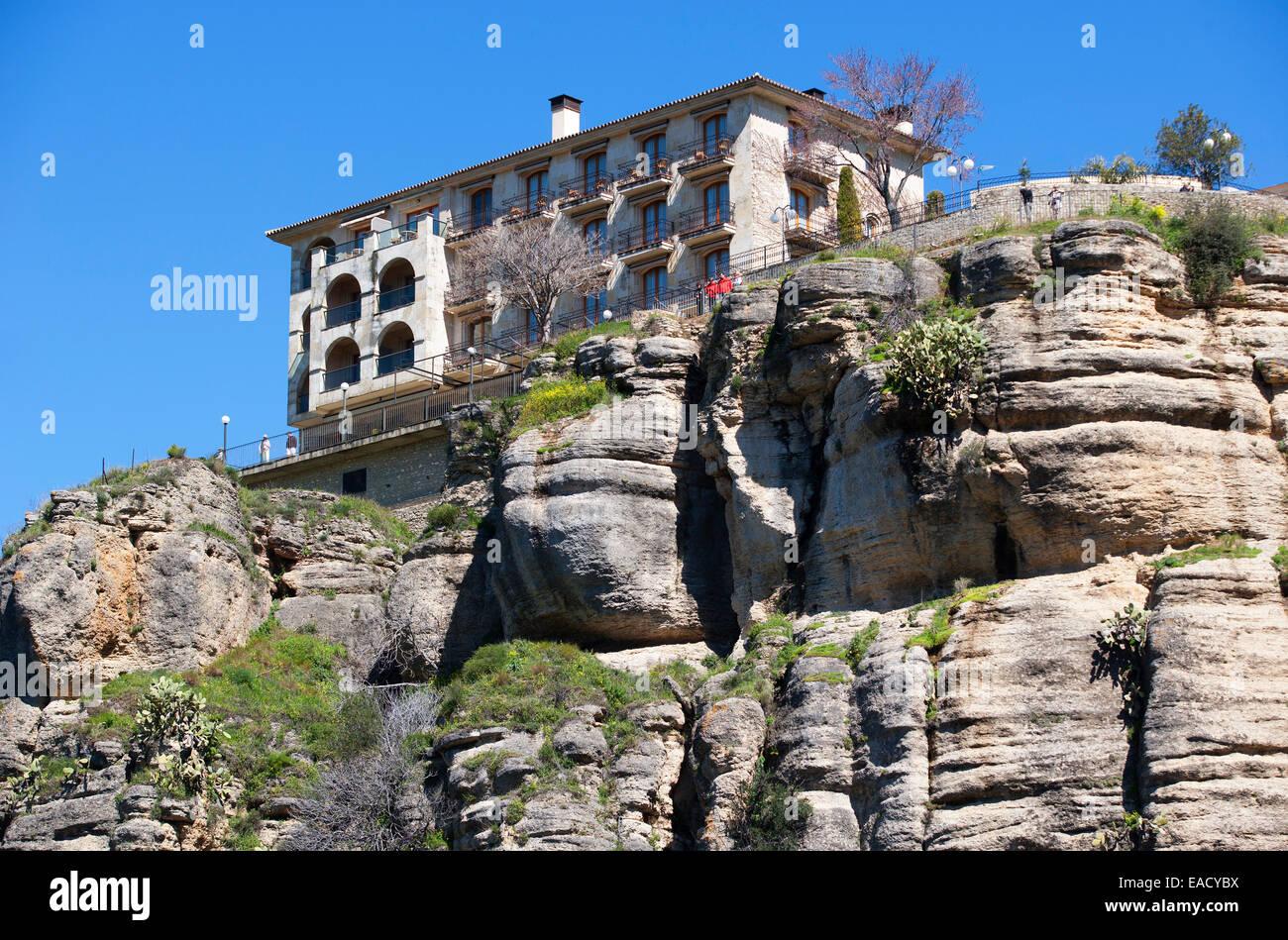 Parador de Turismo, hotel, historic centre, Ronda, Province of Malaga, Andalusia, Spain - Stock Image