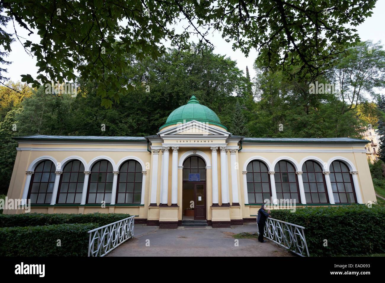 Forest Spring, classical pavilion, Mariánské Lázně, Karlovy Vary Region, Bohemia, Czech Republic - Stock Image