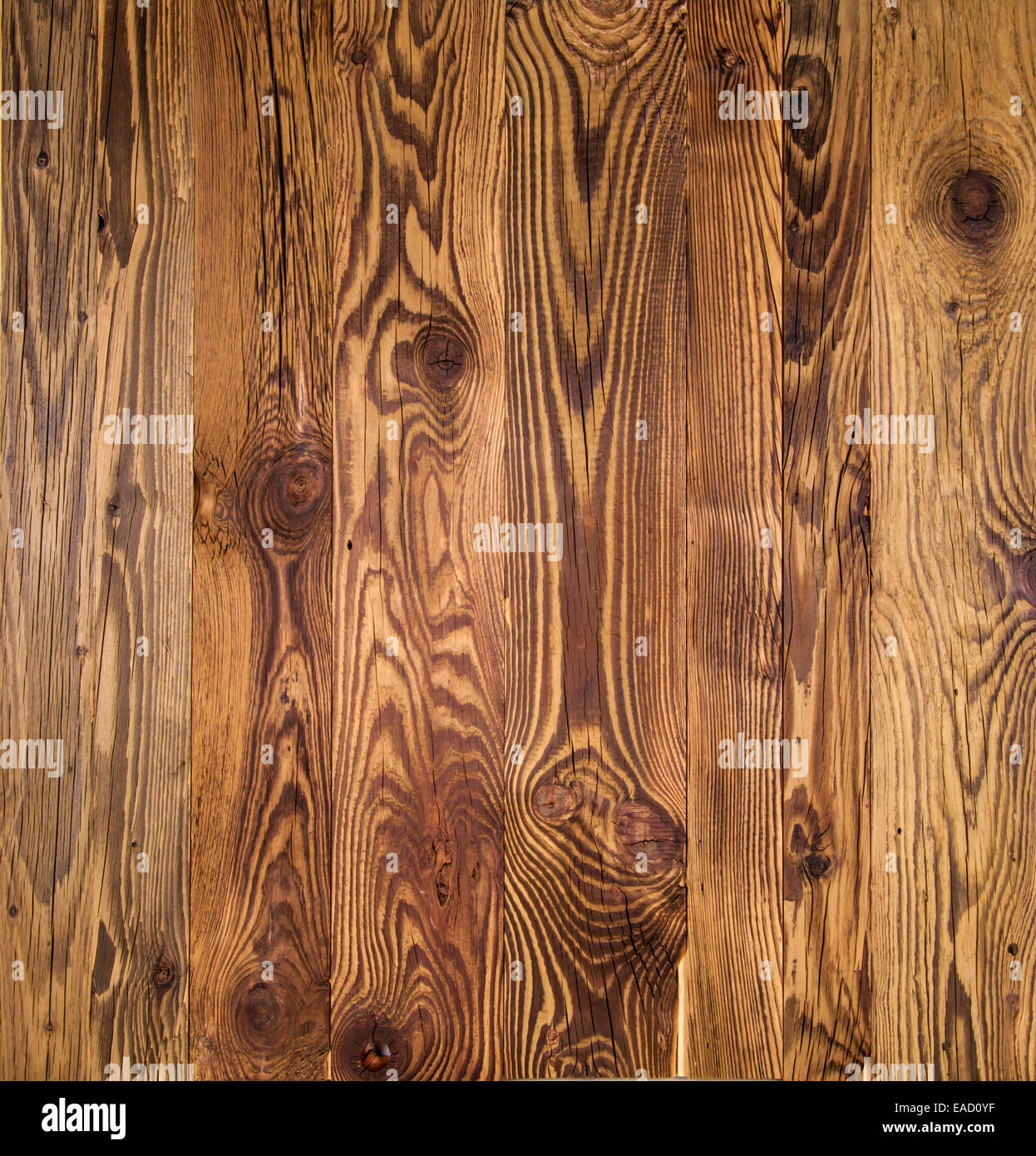 Texture of old wooden planks - Stock Image