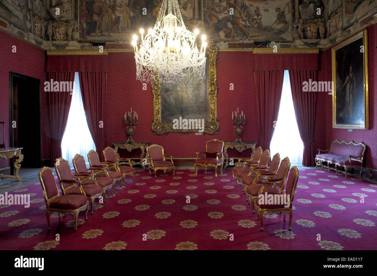 Ambassador's Room, Grandmaster's Palace, Valletta, Malta - Stock Image