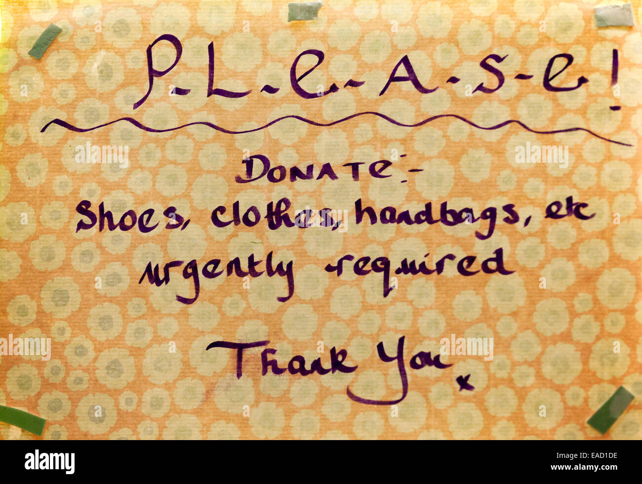 donation clothing charity clothes donate giving charitable used container give secondhand poor need support welfare - Stock Image