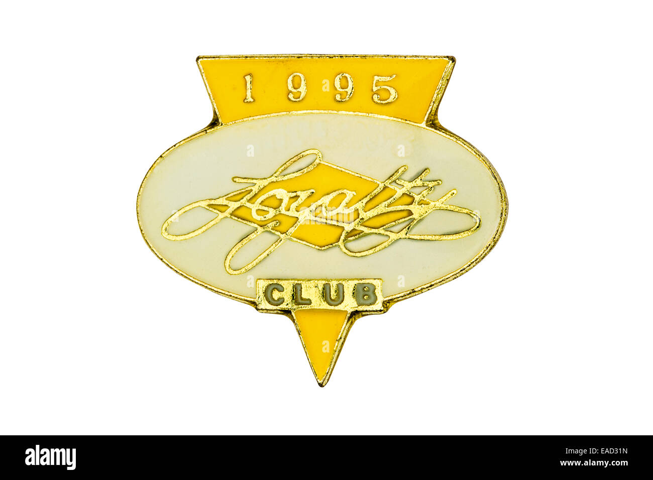 Butlins holiday loyalty  club badge (year 1995) on white background. - Stock Image