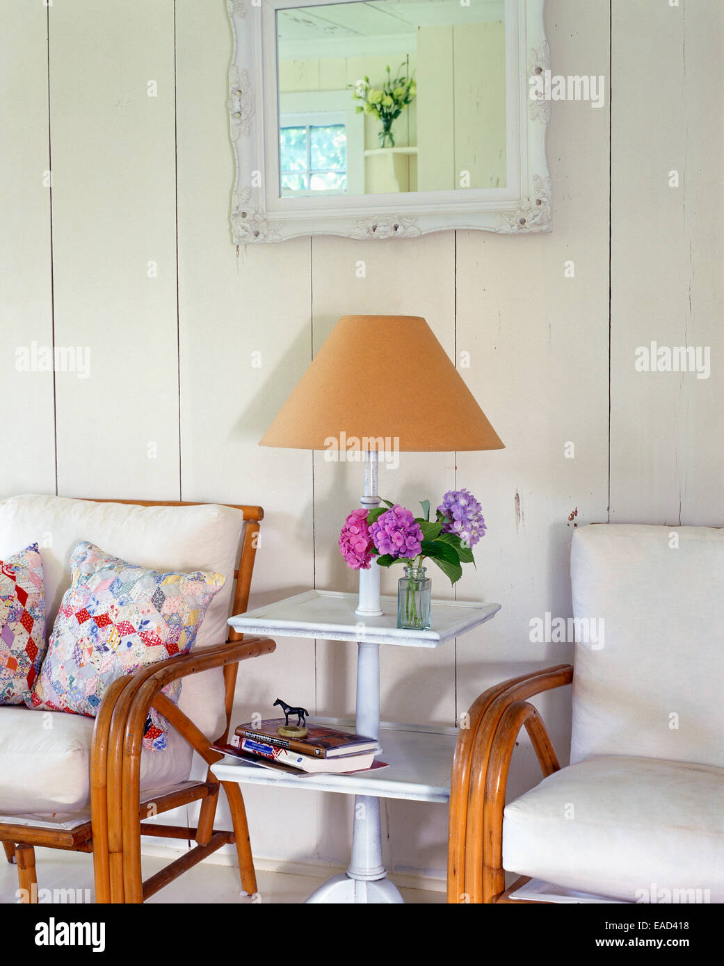 side table in country cottage - Stock Image
