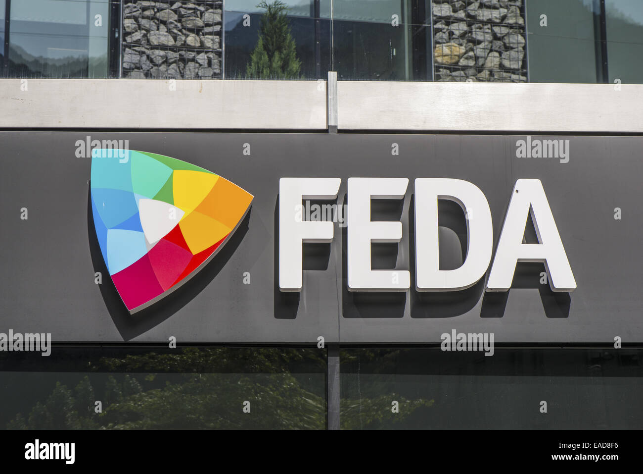 FEDA, Consell General, Andorra la Vella, capital city of Andorra, Andorra Stock Photo