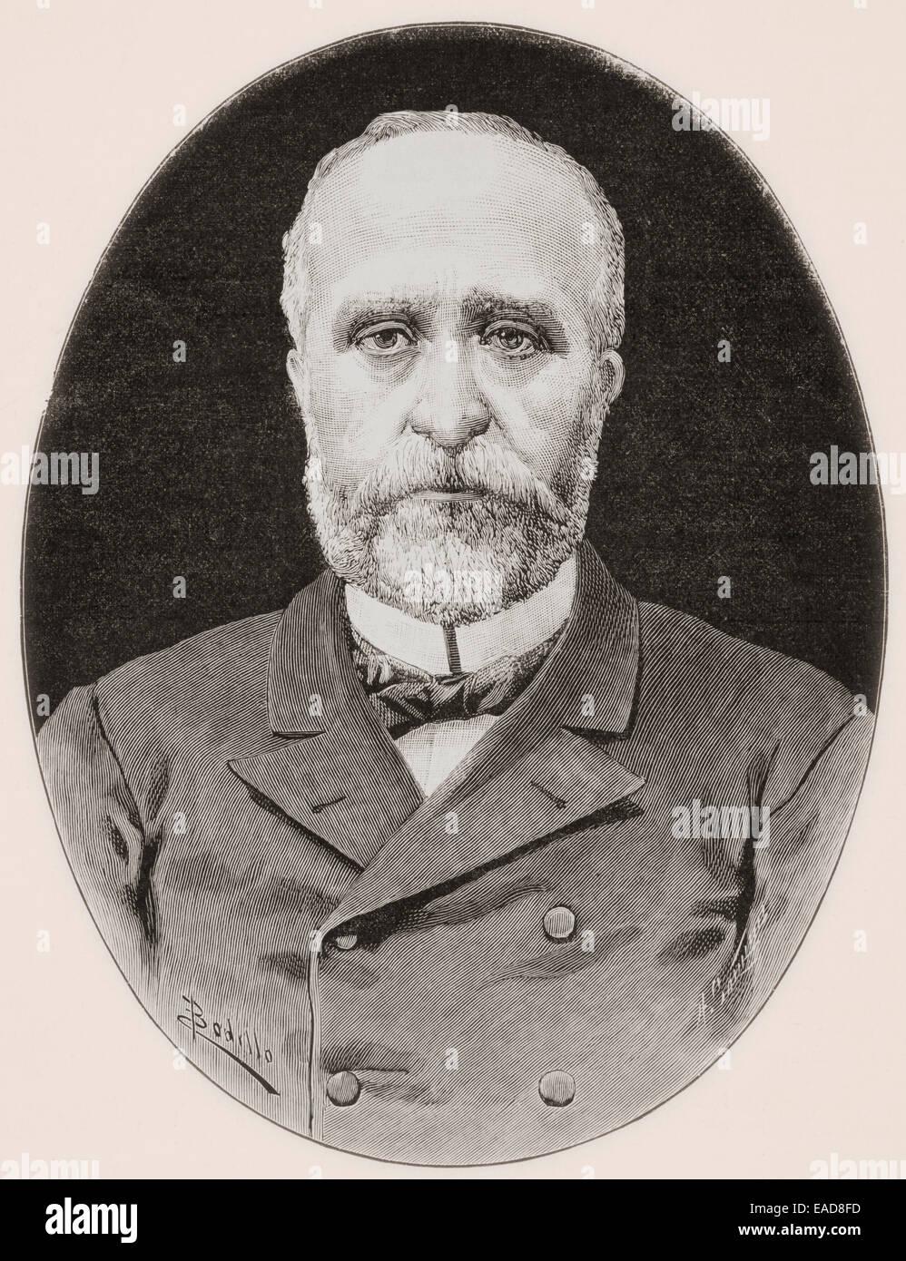 Miguel de los Santos Álvarez, 1817–1892.  Spanish writer. - Stock Image