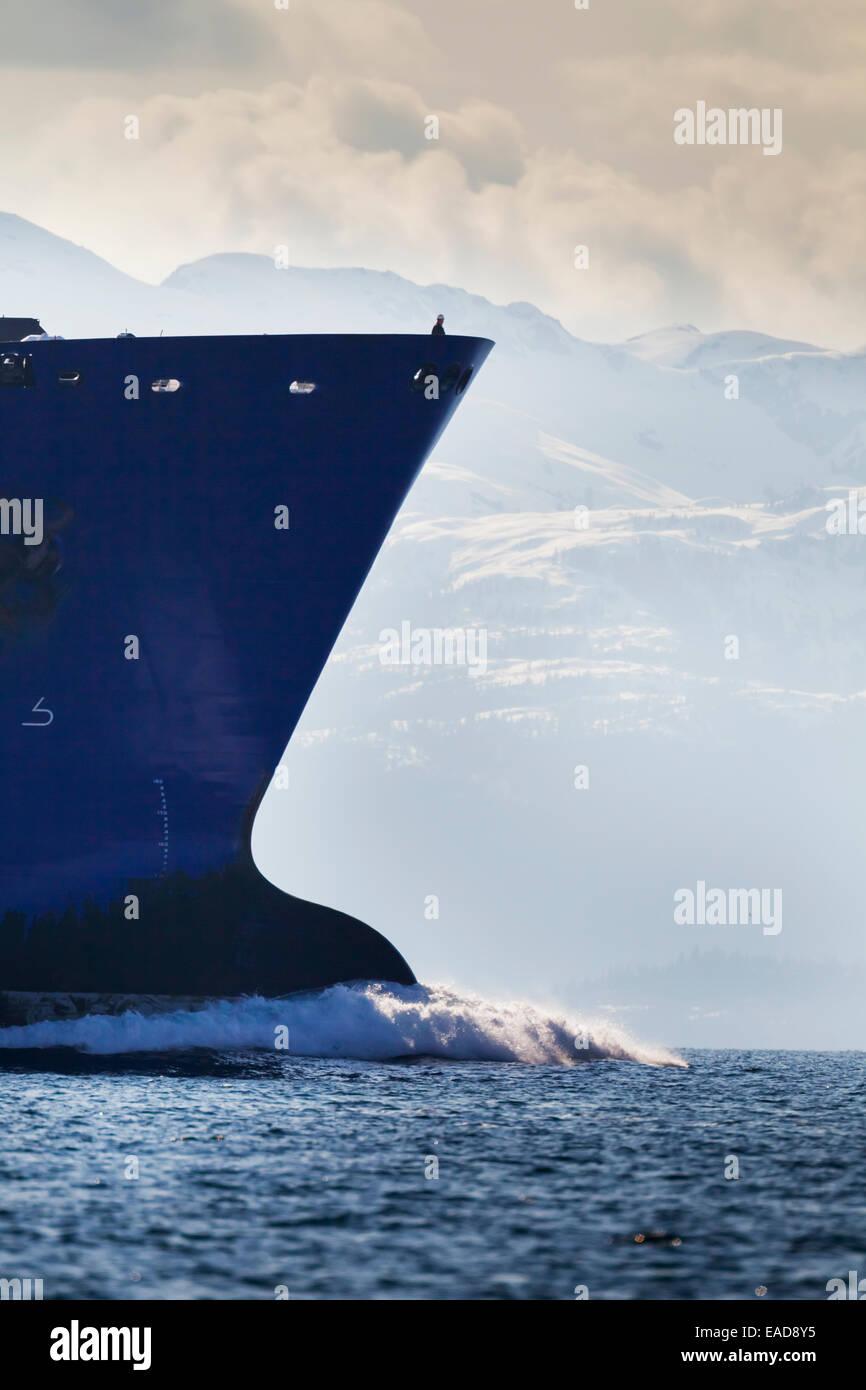 Sea,Ship,Alaska,Oil Tanker - Stock Image