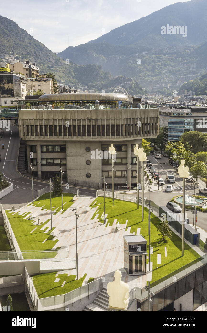 Consell General, Andorra la Vella, capital city of Andorra, Andorra Stock Photo
