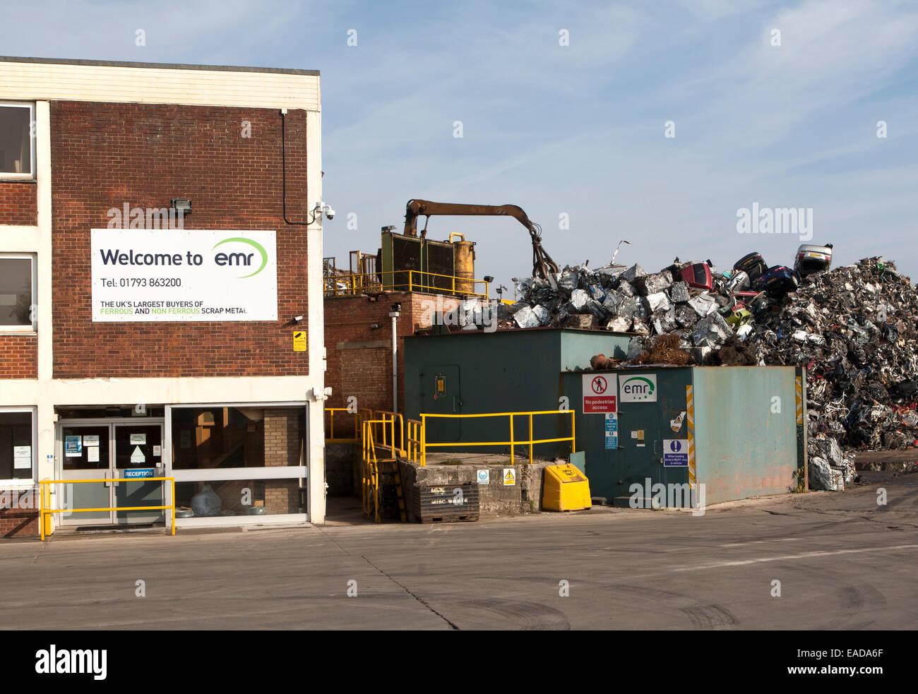 Scrap metal recycling EMR company, Swindon, England, UK Stock Photo