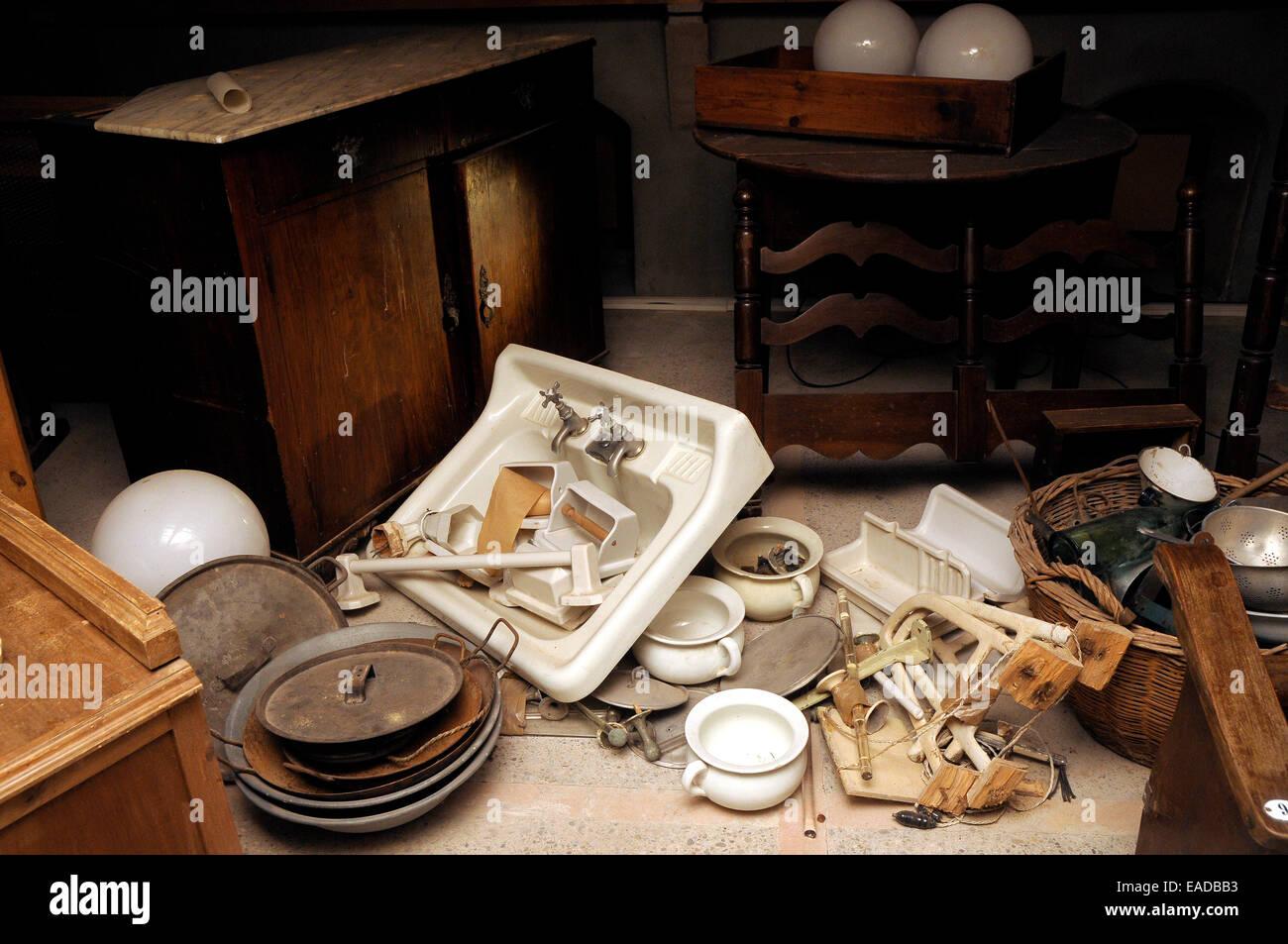 garret, old stuff,attic, old things,antic,mansard - Stock Image