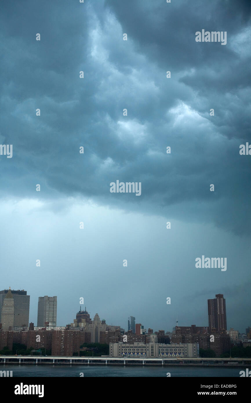 Extreme weather over New York City - Stock Image