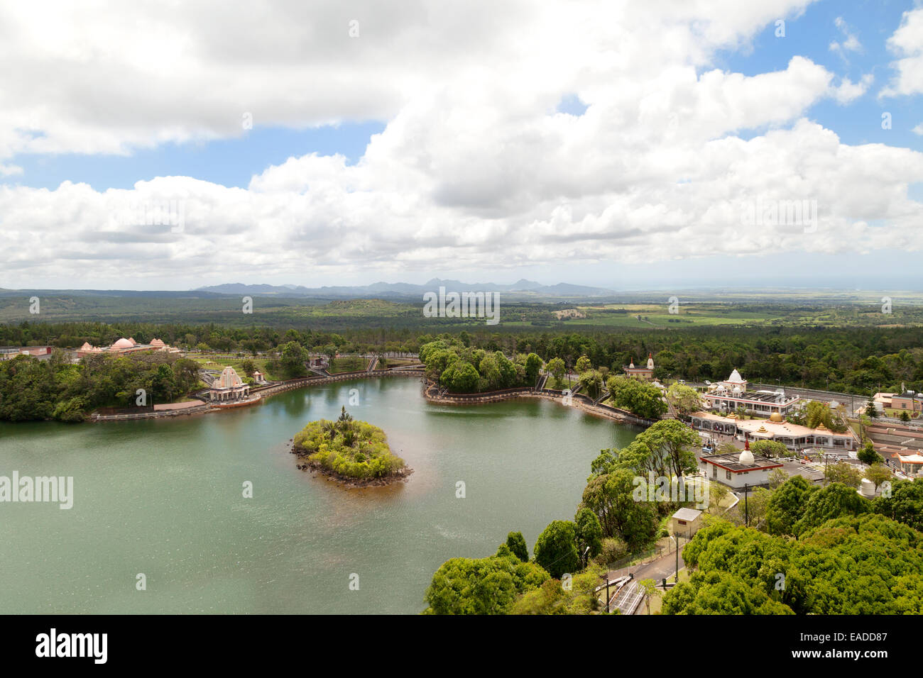 The Hindu Temple complex at Grand Bassin  ( also known as Ganga Taleo or Ganges Lake ), Mauritius - Stock Image