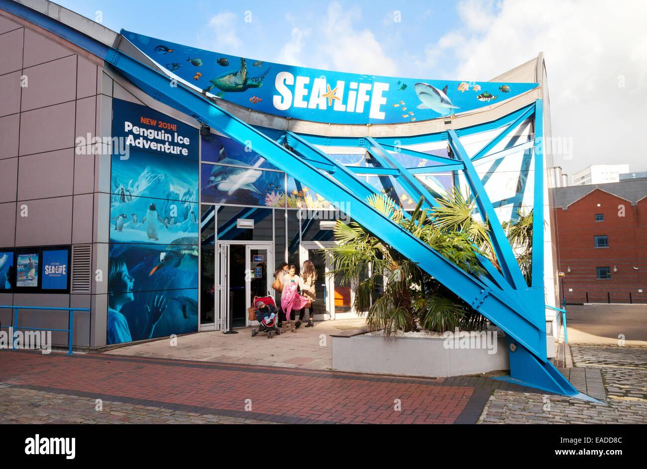 Entrance to the National Sealife Centre, Birmingham UK - Stock Image