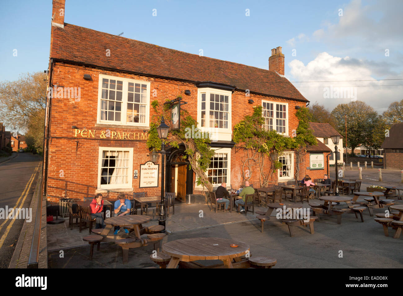 The Pen and Parchment pub, Stratford upon Avon, Warwickshire, UK - Stock Image