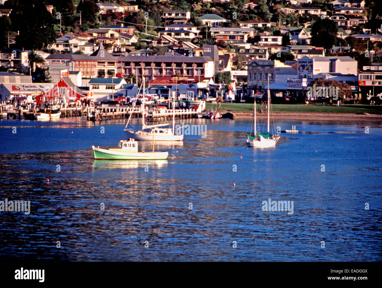 Picton ferry harbor,North Island,New Zealand - Stock Image