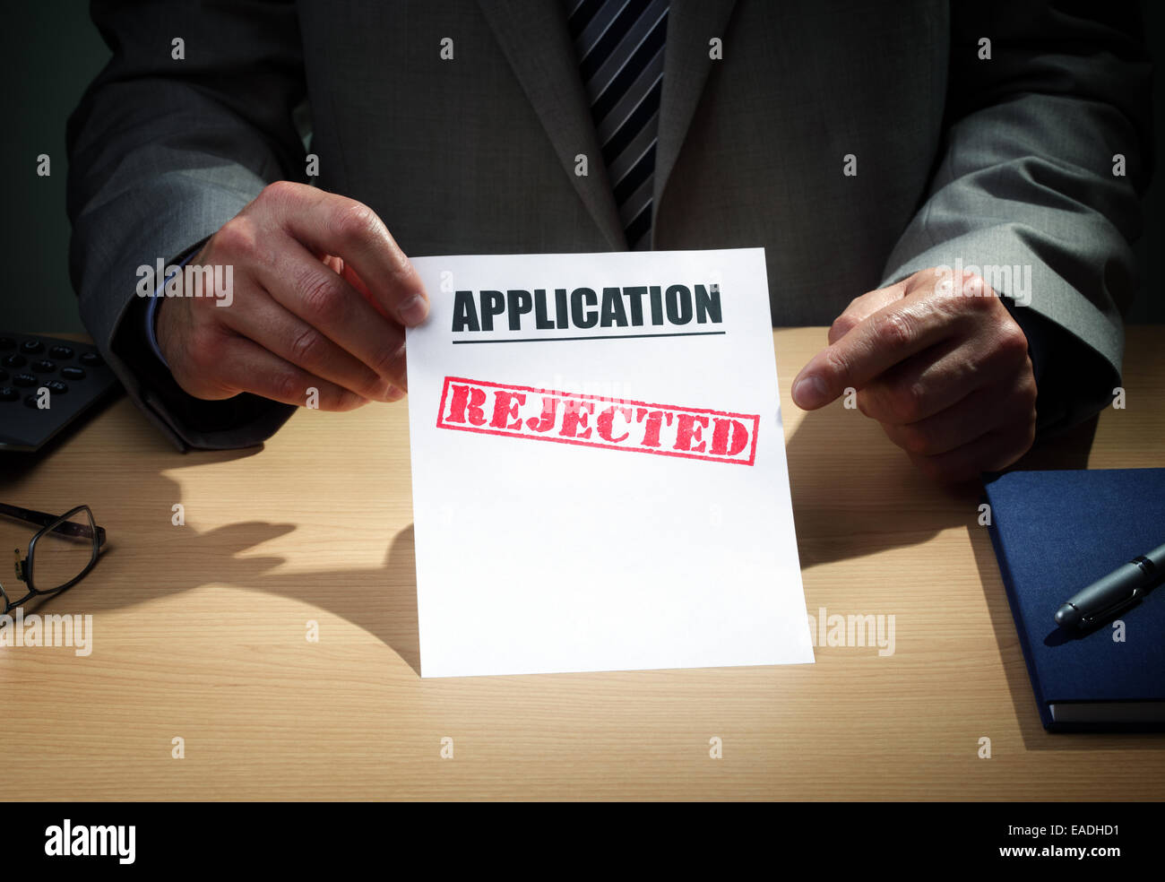 Application rejected - Stock Image