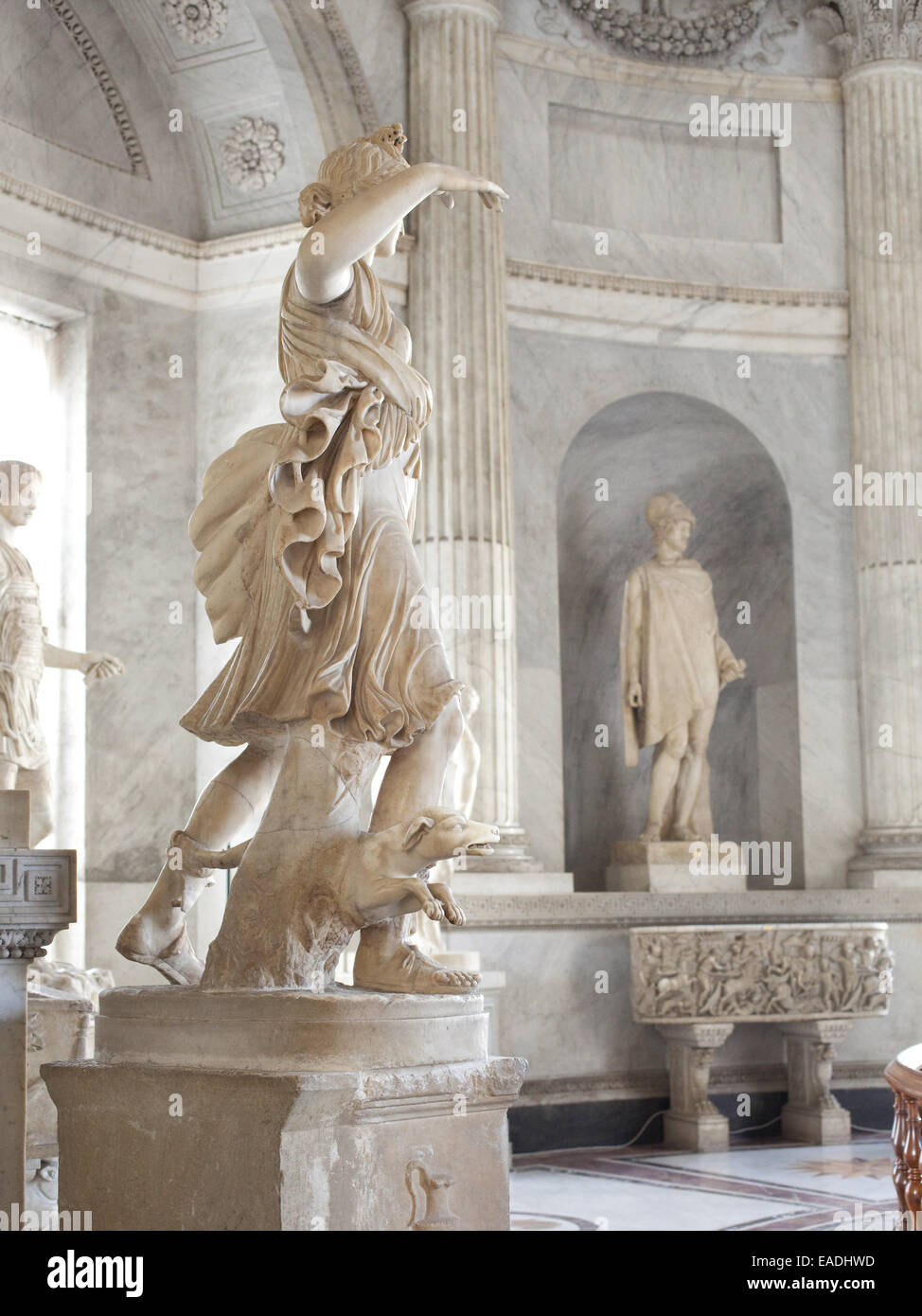 Antique Marble Sculptures In the Vatican - Stock Image