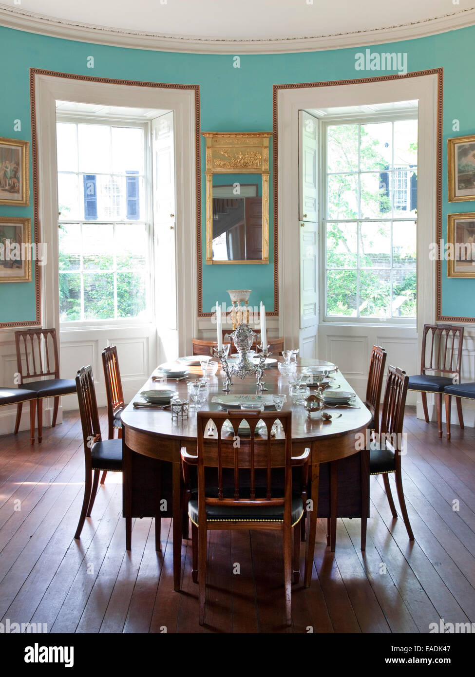 Dining Room of Nathaniel Russell House - Stock Image