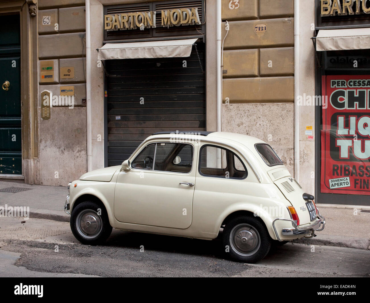 Old Fiat, Rome, Italy - Stock Image