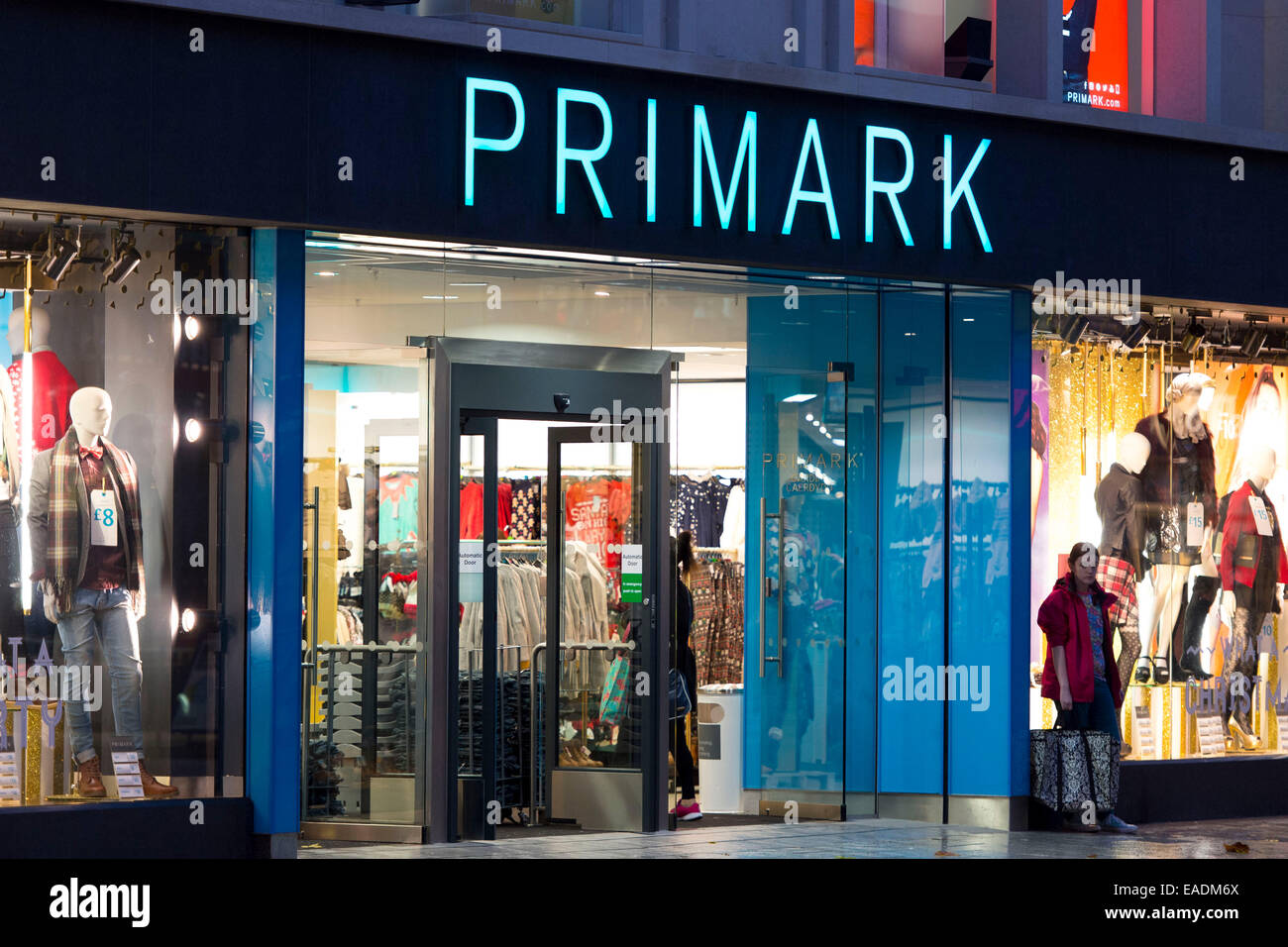 A Primark store on the high street in Cardiff, South Wales. - Stock Image