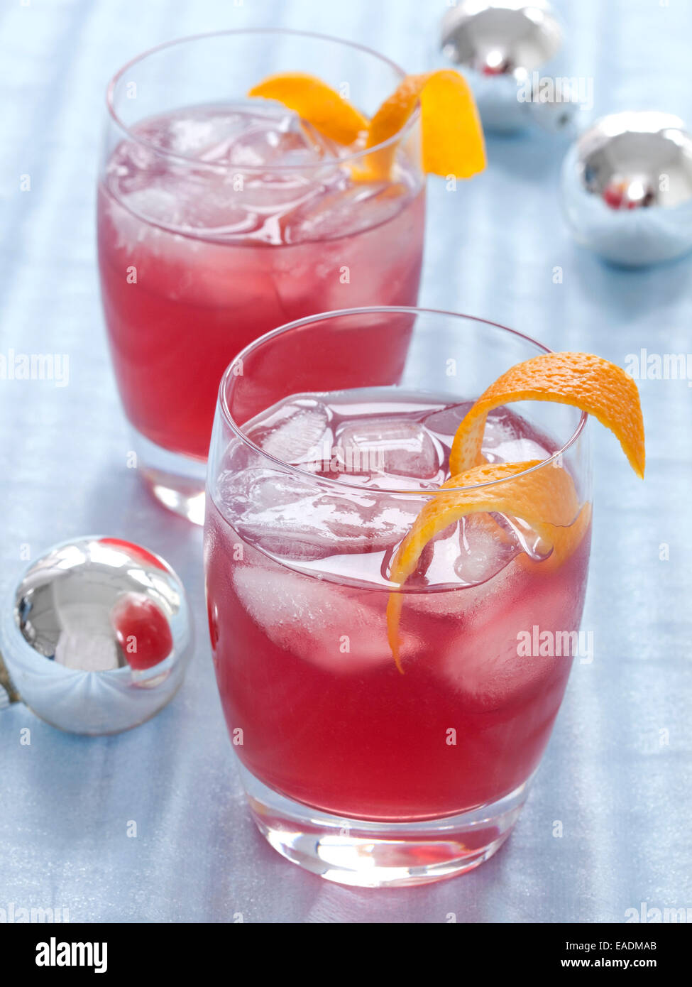 Colorful Holiday Cocktails - Stock Image