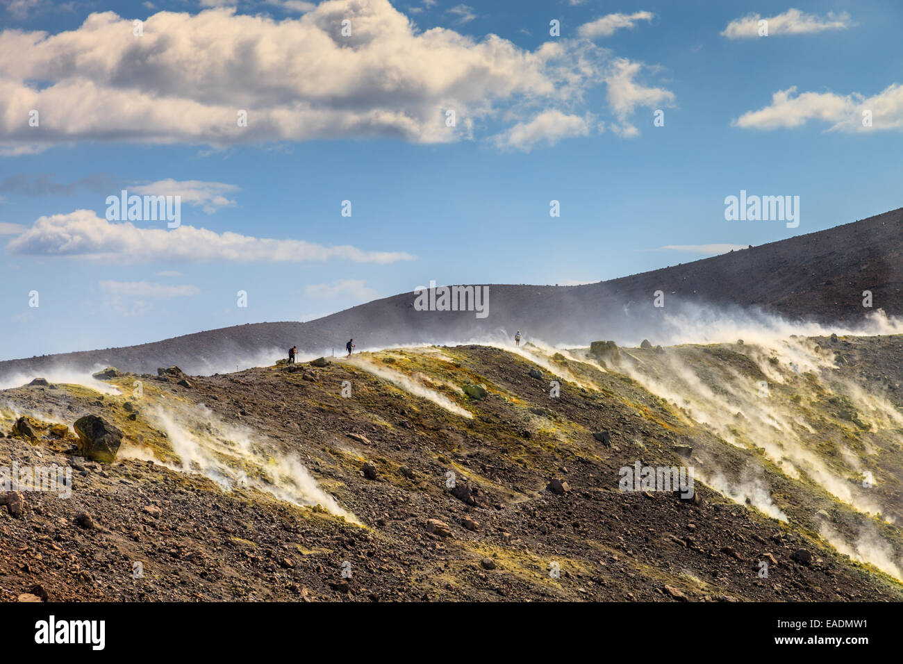 The active volcano in Vulcano Island - Stock Image