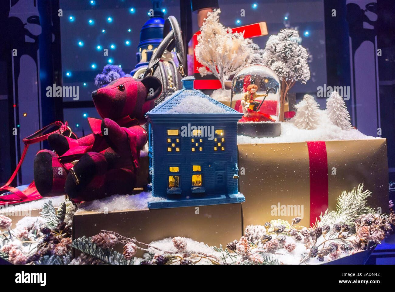 Christmas In France Decorations.Paris France Window Shopping French Department Stores