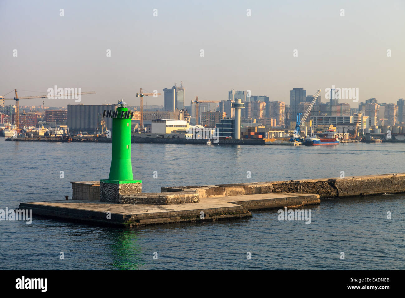 The port of Naples - Stock Image