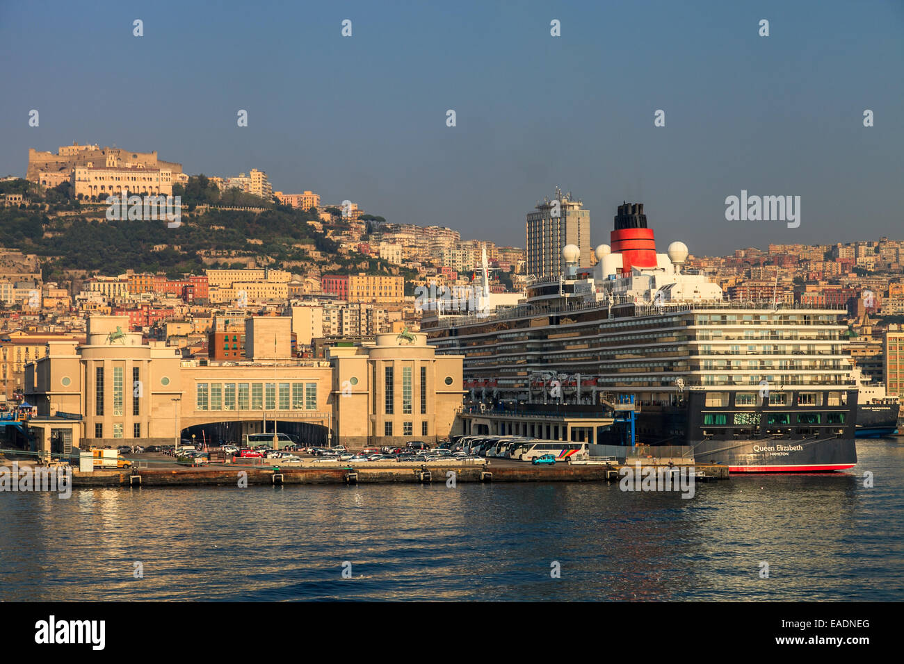 Cruise ships in the port of Naples - Stock Image