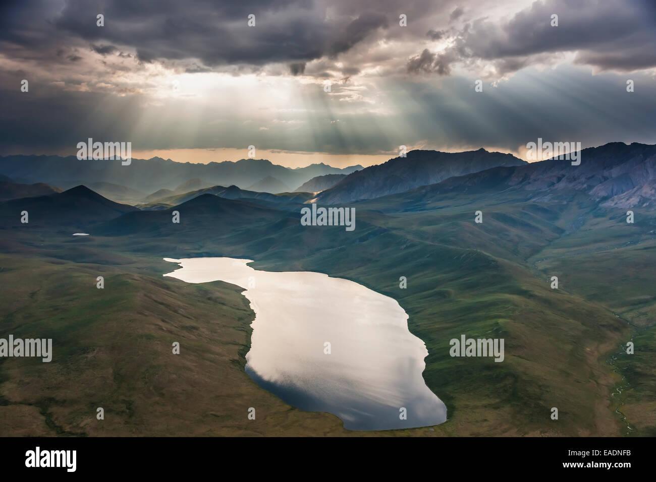 Alaska,Aerial View,Phillip Smith mountains - Stock Image