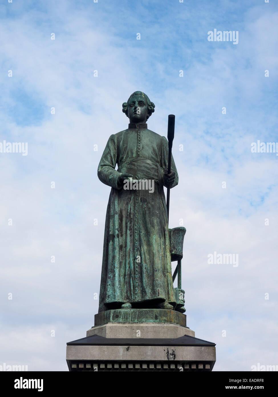 Jean-Pierre Minckelers statue in Maastricht, The Netherlands, Europe - Stock Image