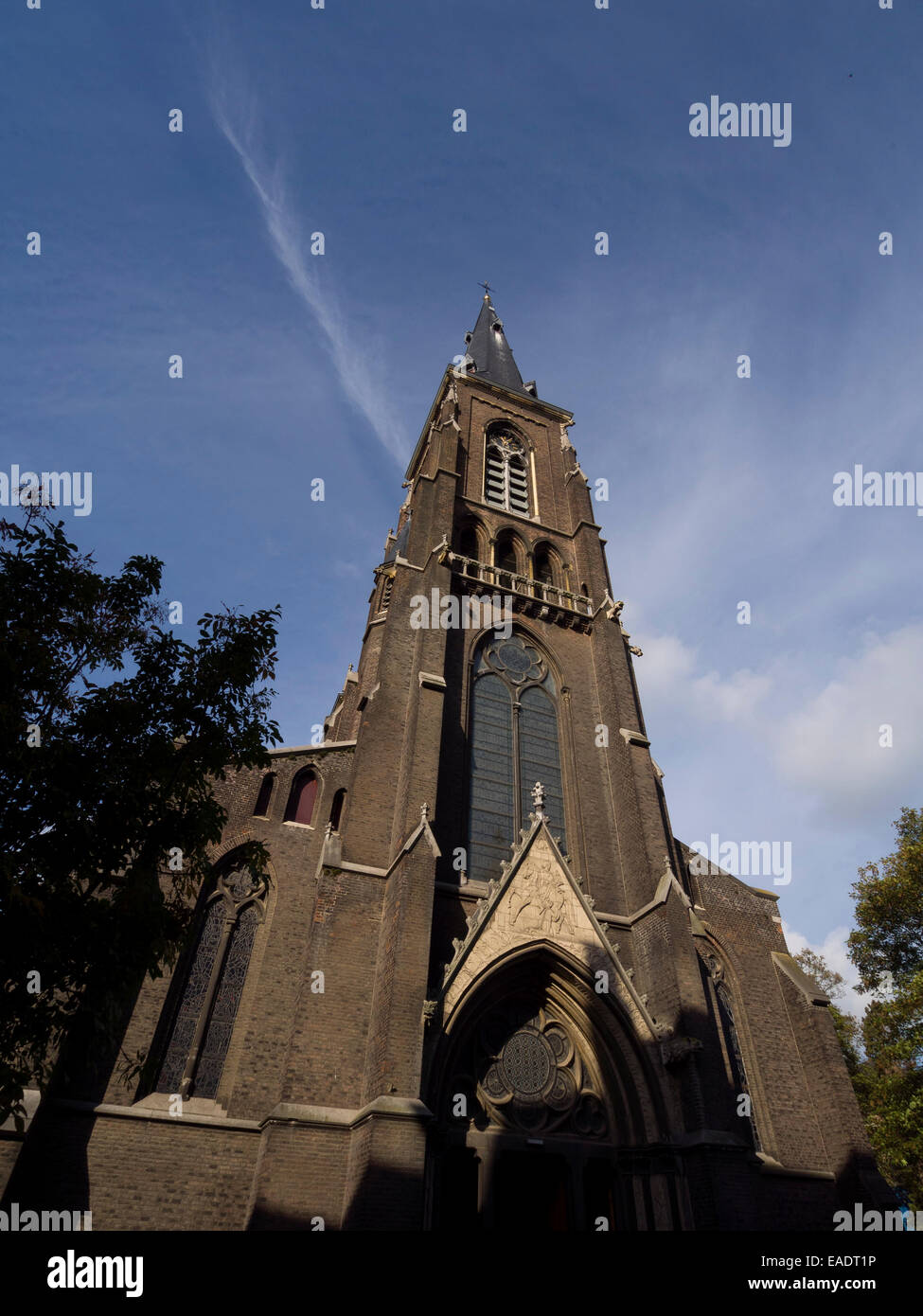 St. Martinus neo-gothic church in Maastricht, The Netherlands, Europe - Stock Image