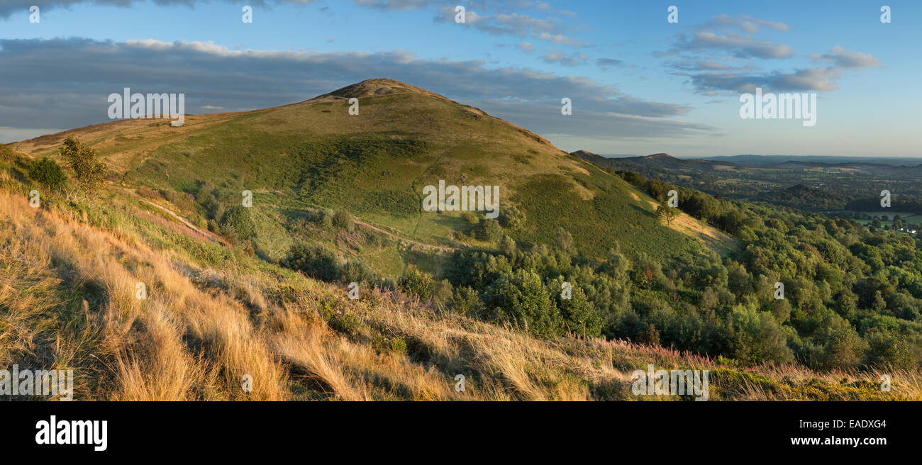 The Worcestershire Beacon, part of the Malvern Hills, Worcestershire taken from Sugarloaf Hill. Stock Photo