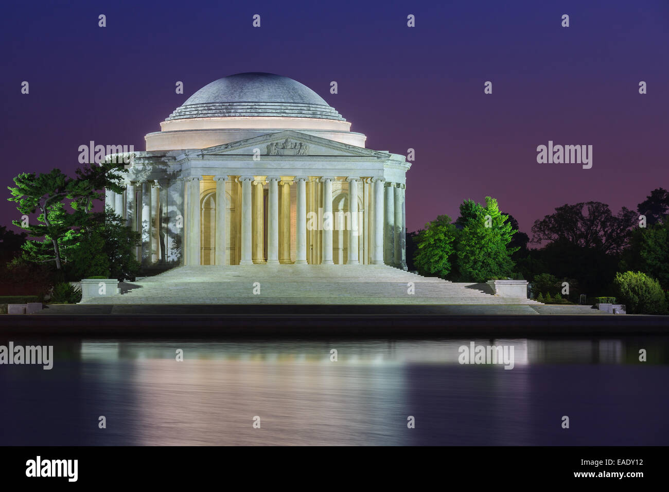 The Thomas Jefferson Memorial is a presidential memorial in Washington, D.C., dedicated to Thomas Jefferson, an - Stock Image
