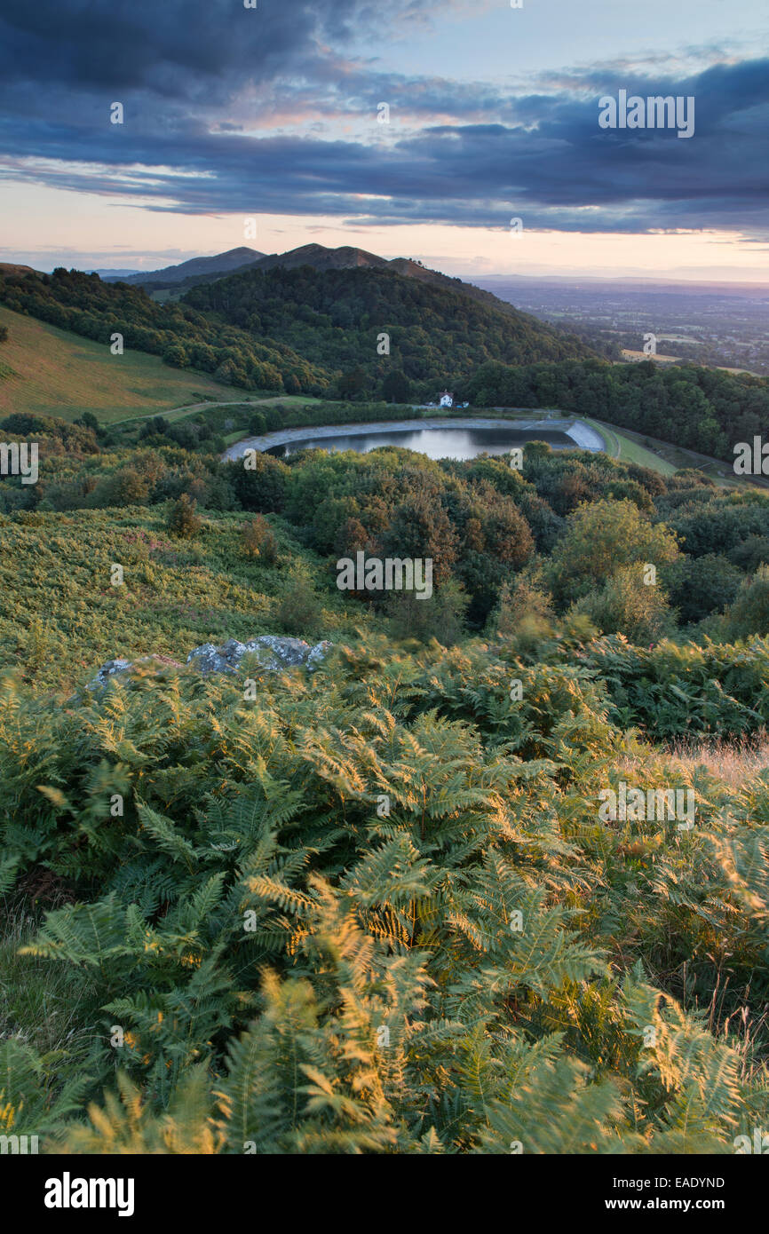 The Reservoir at British Camp, part of the Malvern Hills in Herefordshire and Worcestershire. Stock Photo