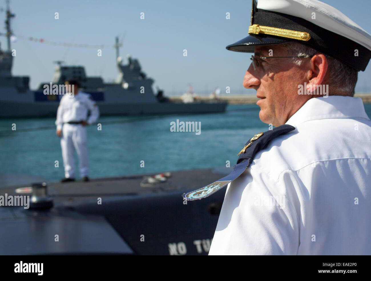 Aluf Ram Rothberg head of the Israel Navy at the arrival of