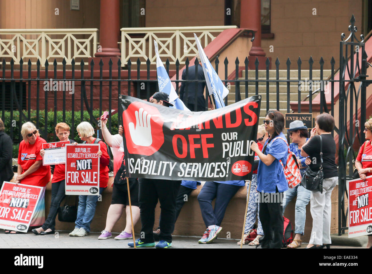 Sydney, Australia. 13th Nov, 2014. The Public Service Association in New South Wales is concerned about job losses Stock Photo