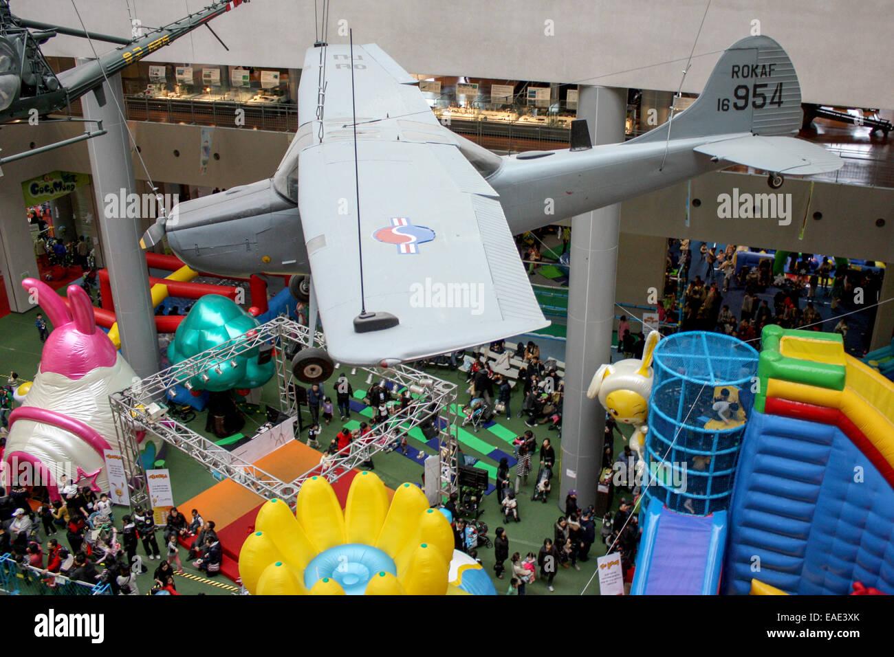 South Korea: Children's playground at War Memorial of Korea, Seoul. Photo from 25. December 2009 Stock Photo