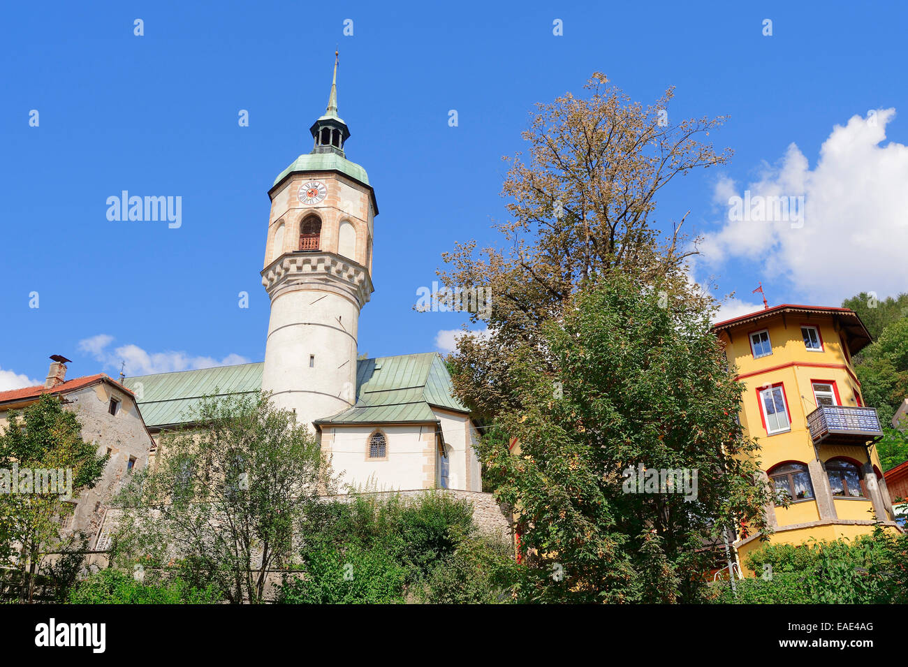 Residential Tower of the Lords of Hoetting, Hötting, Innsbruck, Tyrol, Austria - Stock Image