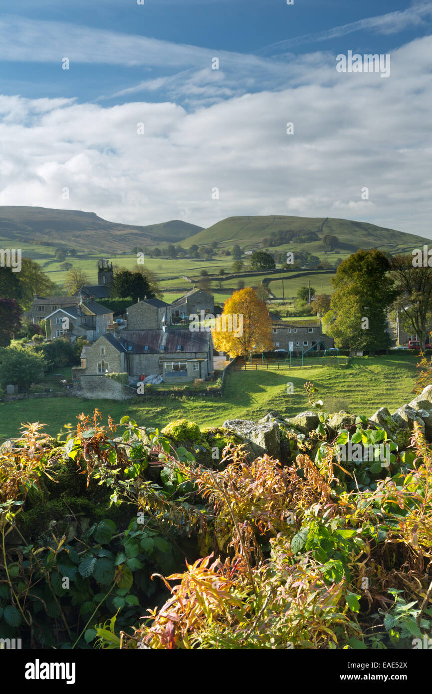 Hebden village in Wharfdale in The Yorkshire dales, England. - Stock Image