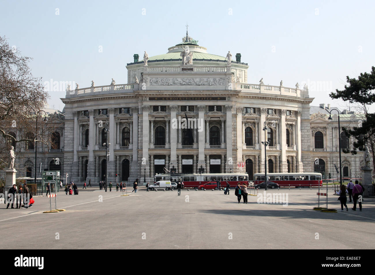 Austria: Burgtheater (Imperial Court Theatre), Vienna. Photo from 23. March 2012. - Stock Image