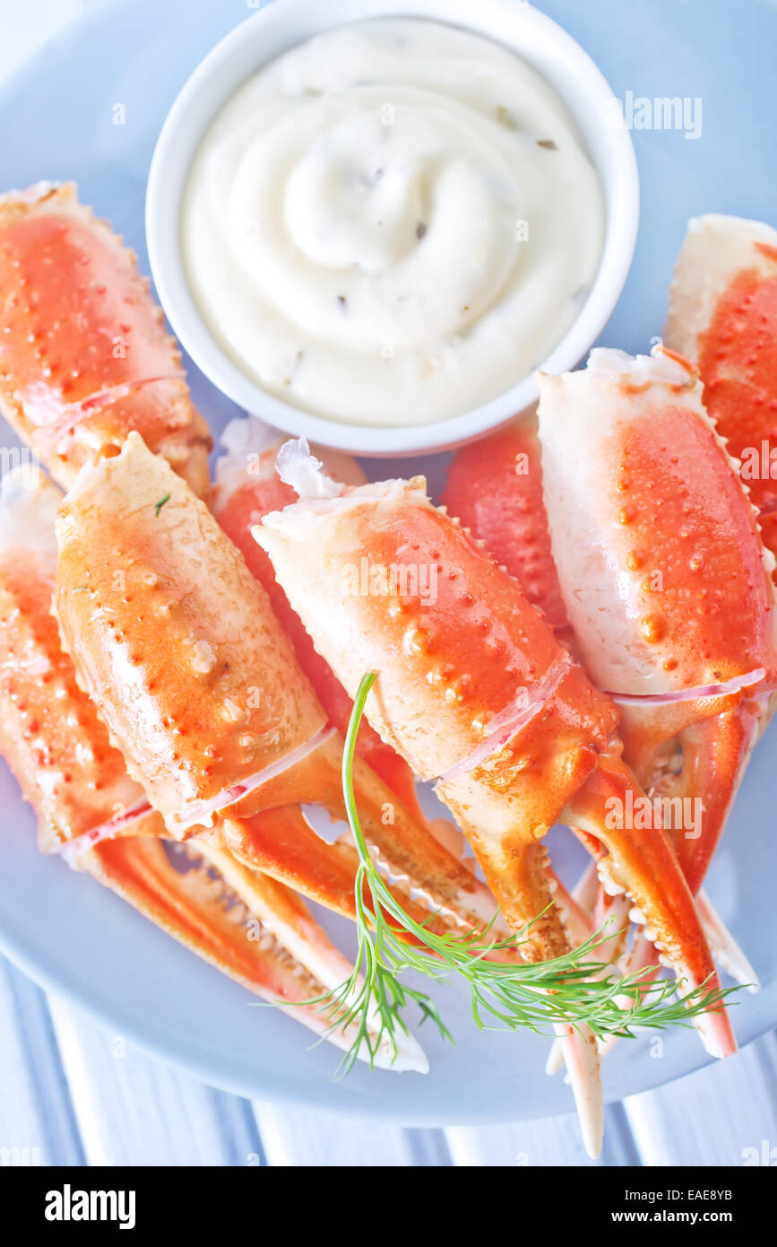 crab claws - Stock Image