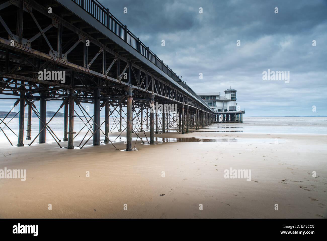 The Grand Pier, Weston super Mare - Stock Image
