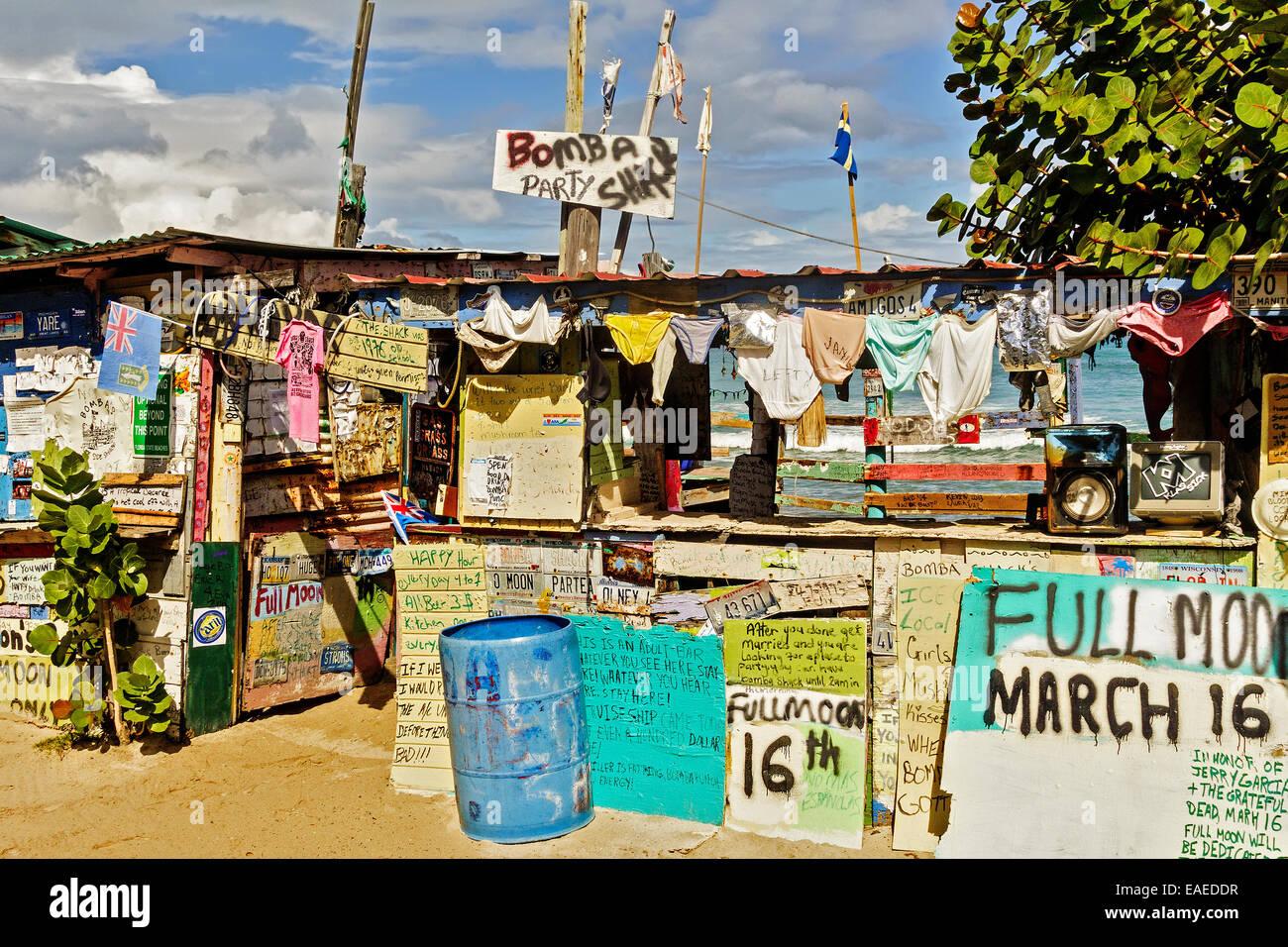 Bomba's Full Moon Party Bar Tortola British Virgin Islands - Stock Image