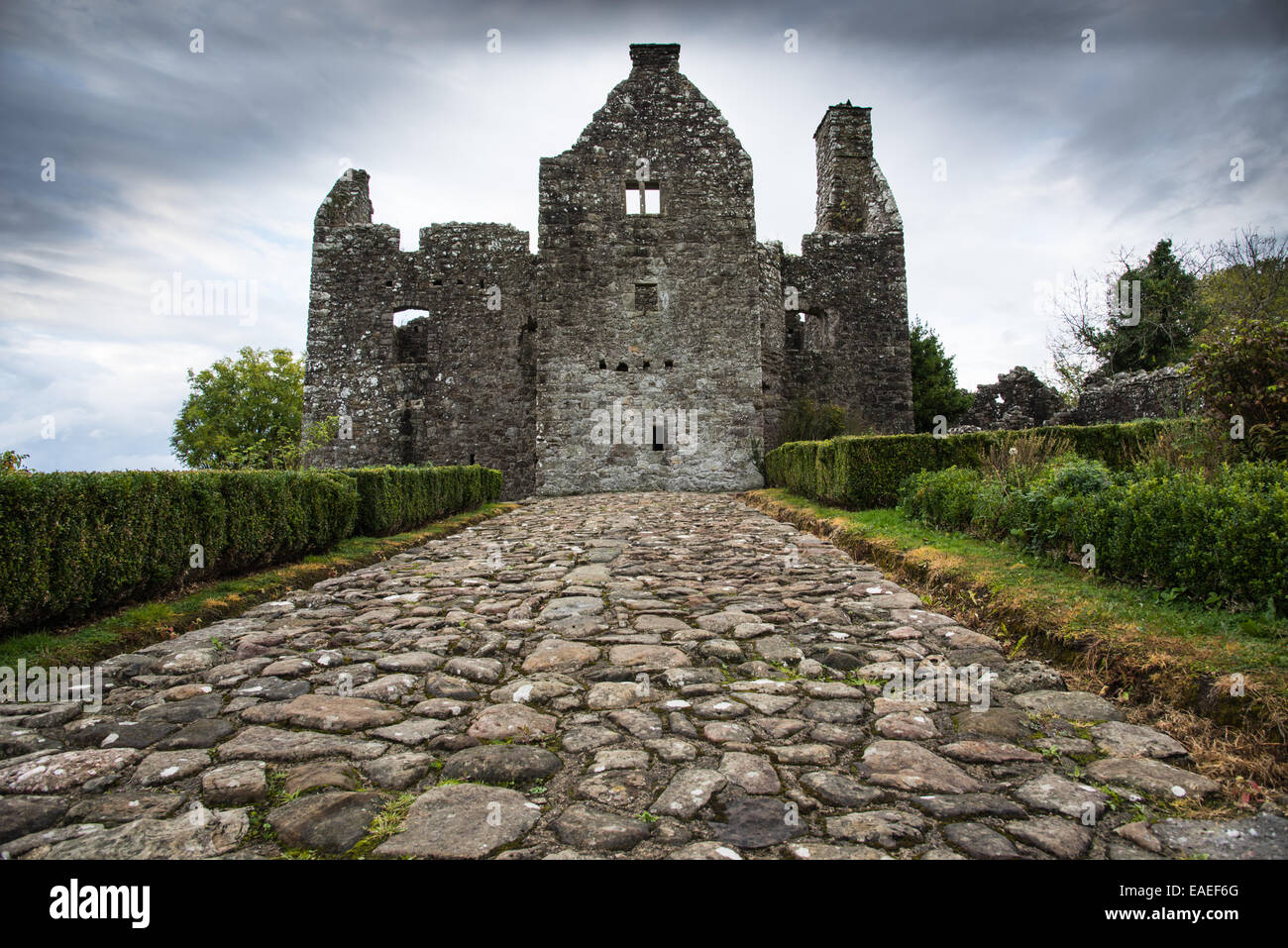 Tully Castle, County Fermanagh, Northern Ireland. - Stock Image