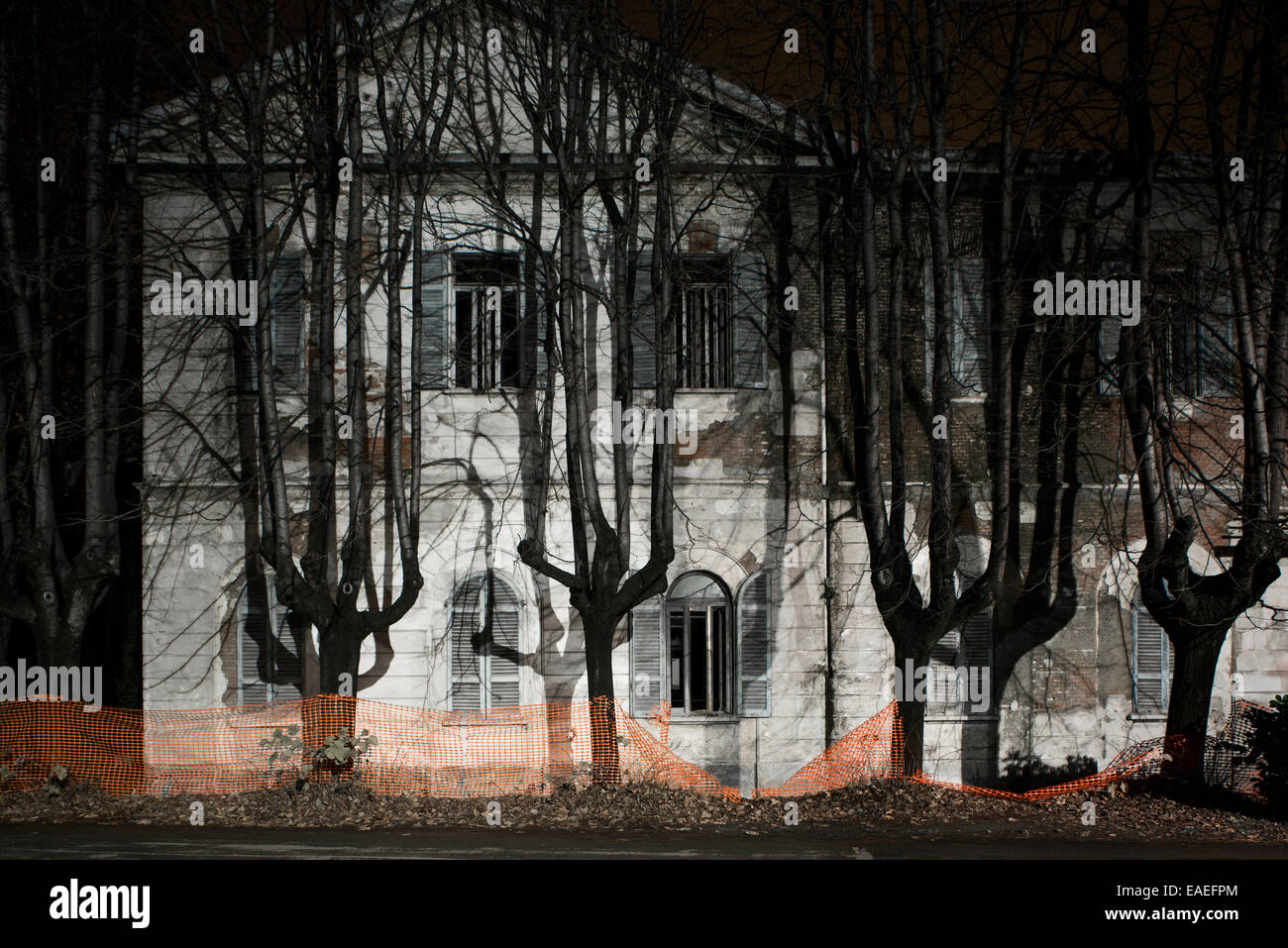 Mombello Abandoned psychiatric hospital building - Stock Image